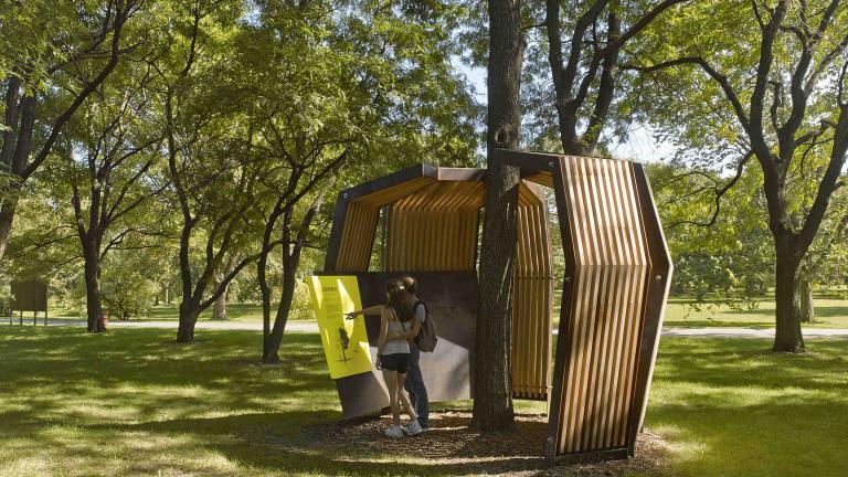 Arboretum interpretation, Montréel, 2013