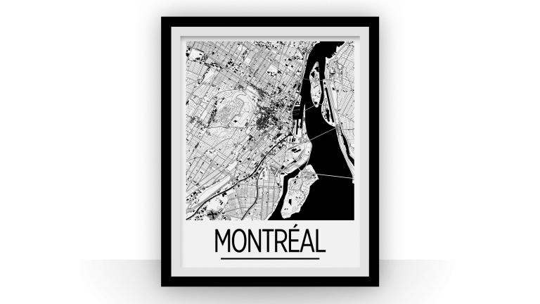 Affiche de la carte de Montréal, 2015