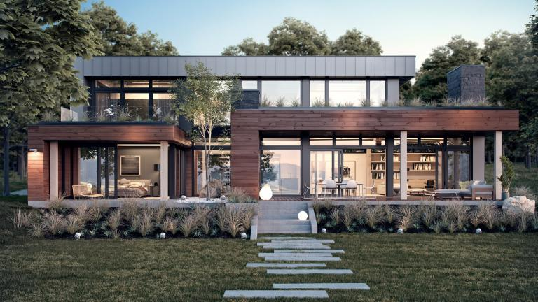 Massive wood home design, a prototype house readay to  assemble, 2016