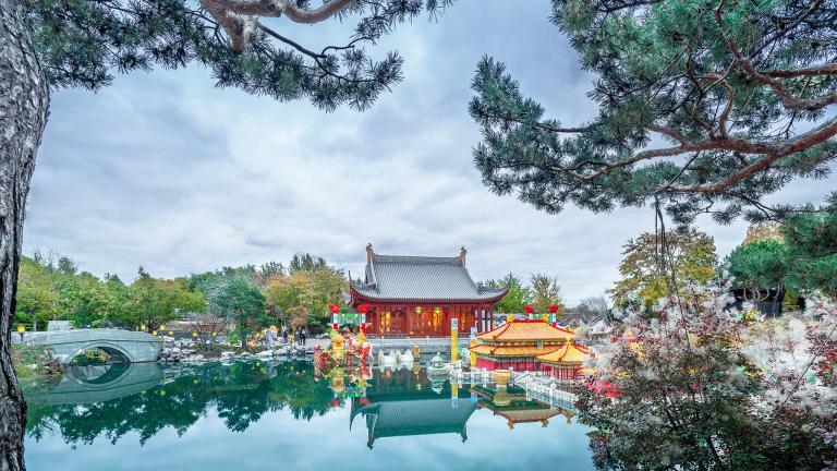Chinese Garden Pavilion restoration, Botanical Garden, Montreal, 2016