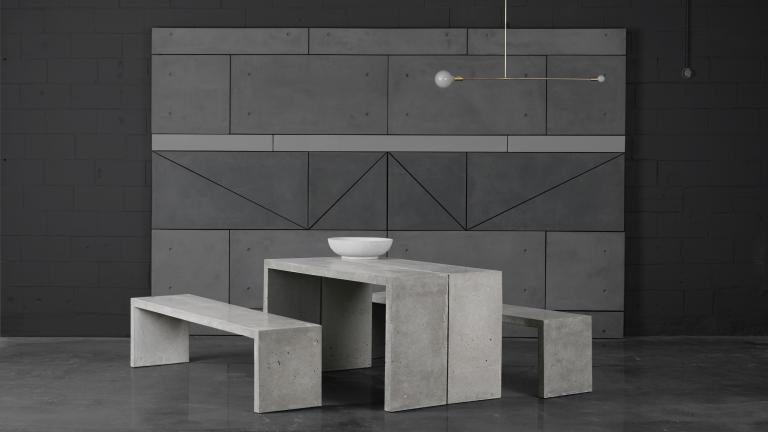 Concrete P Table and P banc, Montreal, 2016