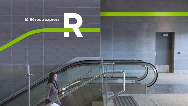 Identité du R, Réseau express métropolitain (REM), Montréal, 2018