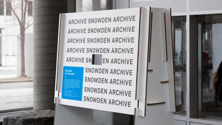 Exhibition, Groupe de recherche sur l'information et la surveillance au quotidien, Montréal, 2018