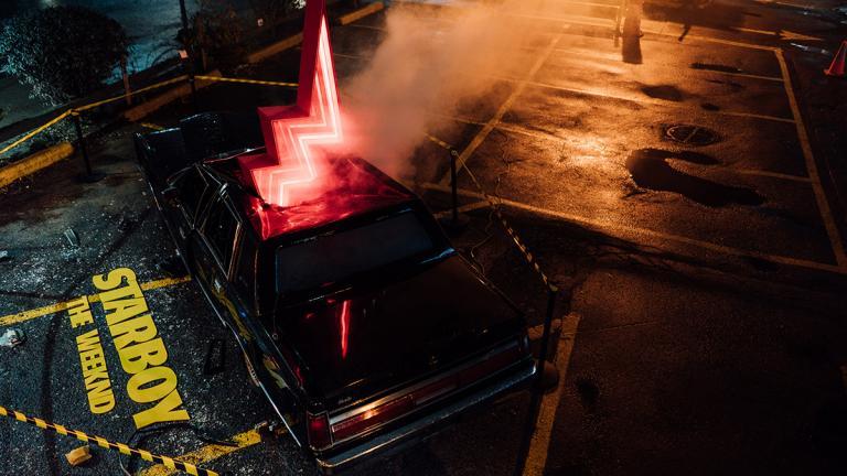 Installation pour le lancement de l'album Starboy de The Weeknd, Montréal, 2017