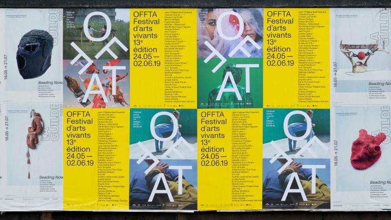 Identité et site internet, OFFTA Festival d'arts vivants, Montréal, 2019